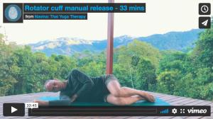 rotator cuff manual release